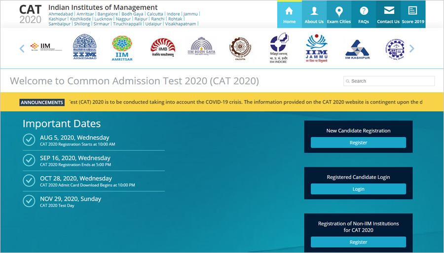 cat 2020 website