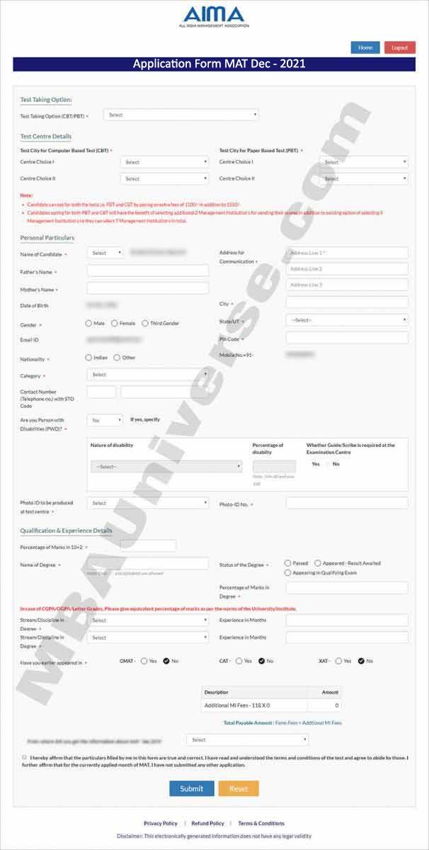 MAT Registration