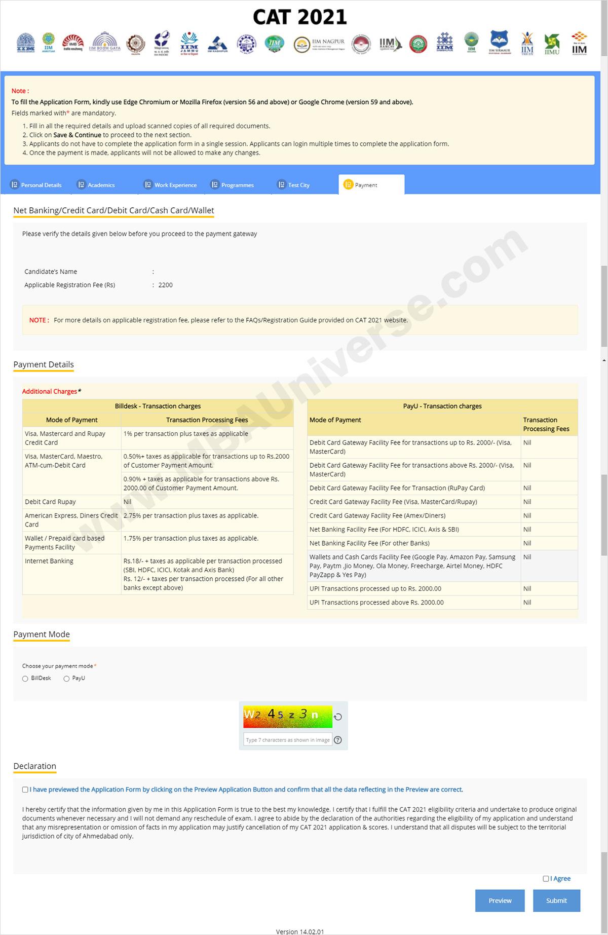 cat registration payment