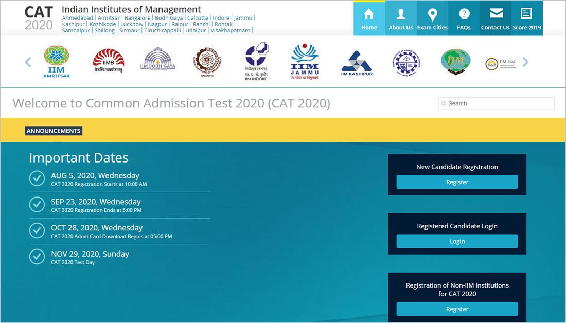 CAT Official website