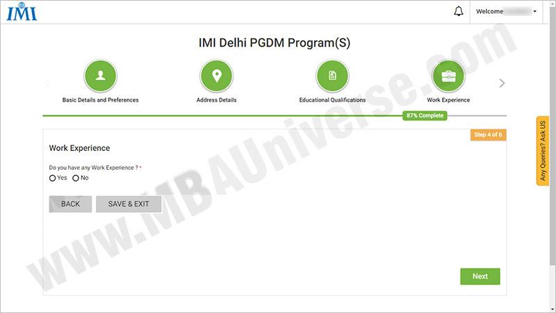 IMI New Delhi Application Process 6
