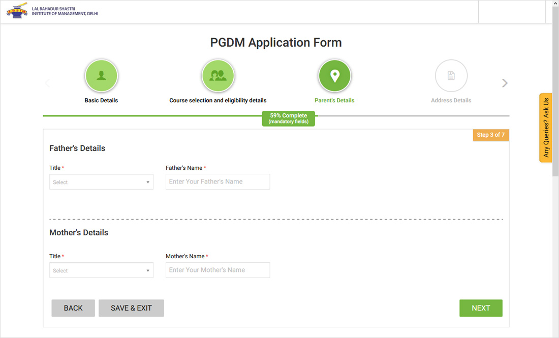 How to Apply forLBSIMAdmission Steps 5
