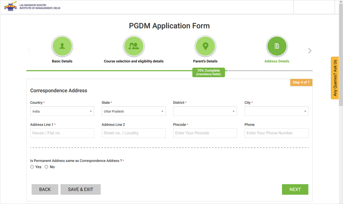 How to Apply forLBSIMAdmission Steps 7