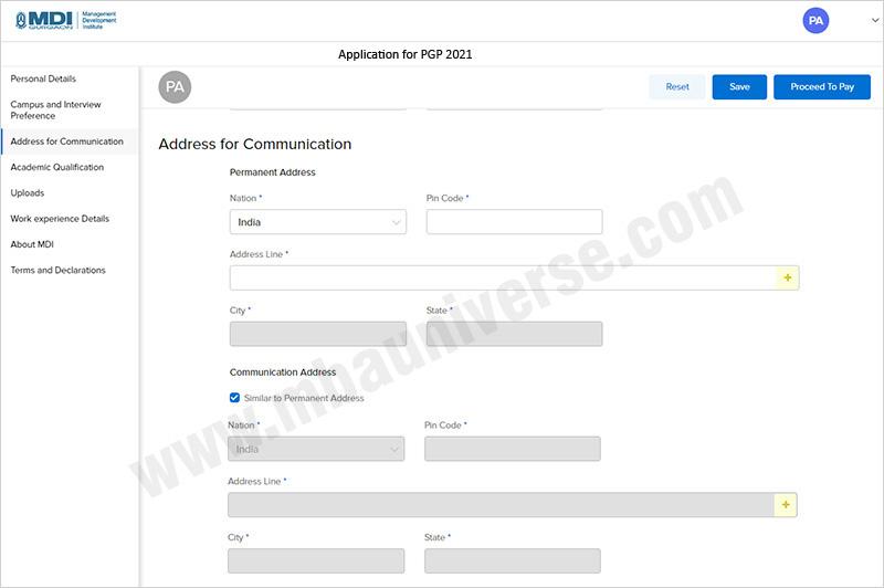 MDI Gurgaon Application Process Step 3