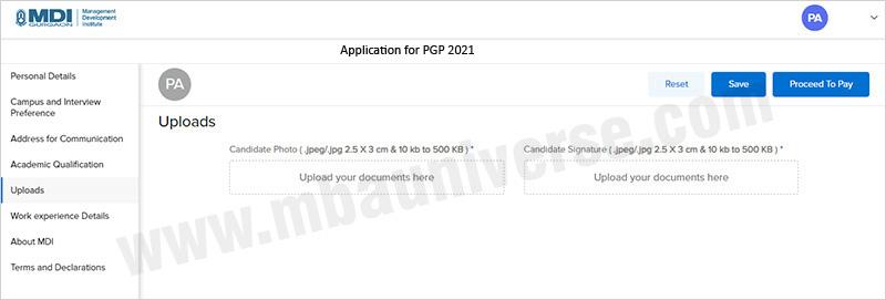 MDI Gurgaon Application Process Step 6