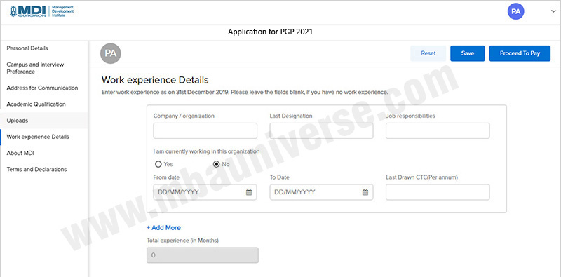 MDI Gurgaon Application Process Step 7