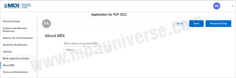 MDI Gurgaon Application Process Step 8