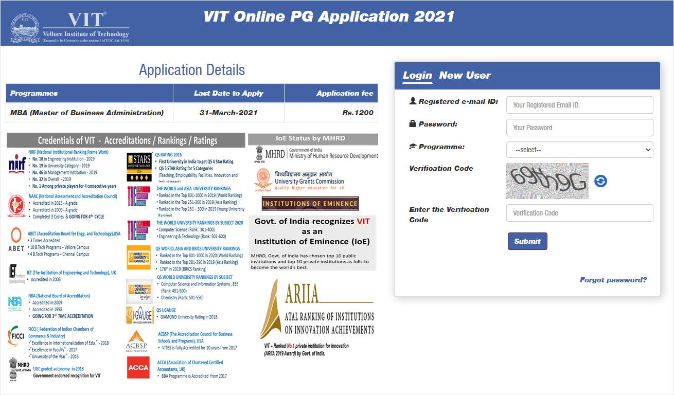 VIT Vellore MBA Admission