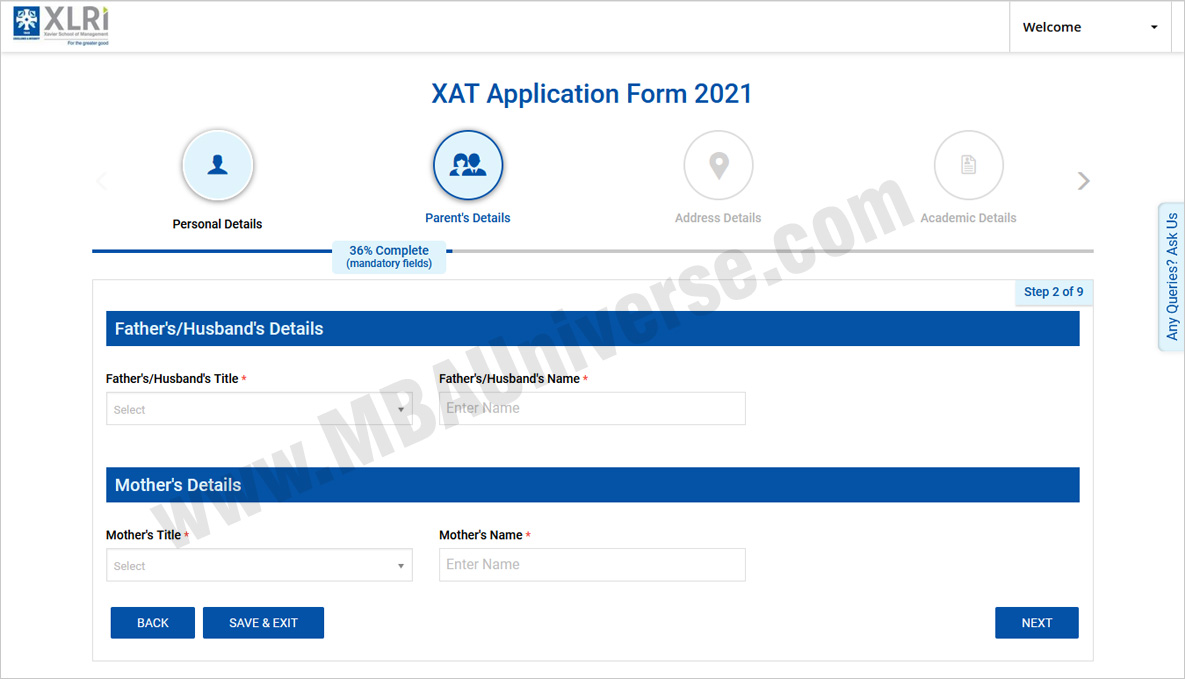 How to apply for XAT andXLRI Steps 3