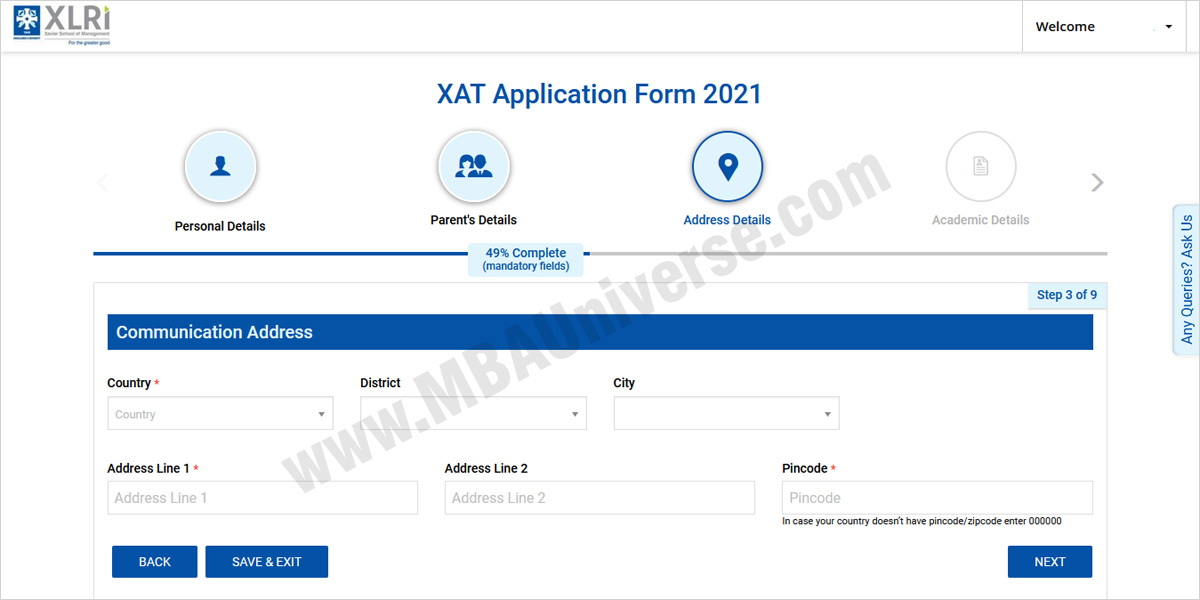 xat registration programmes
