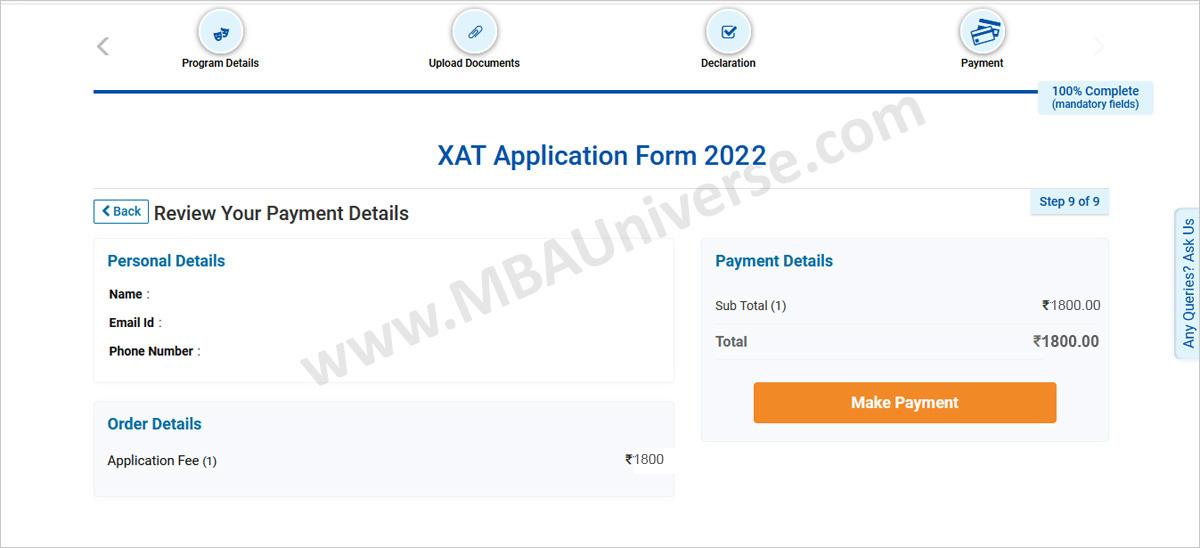 xat registration