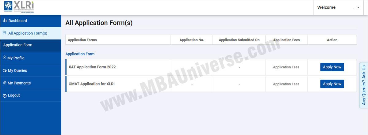 xat registration personal details