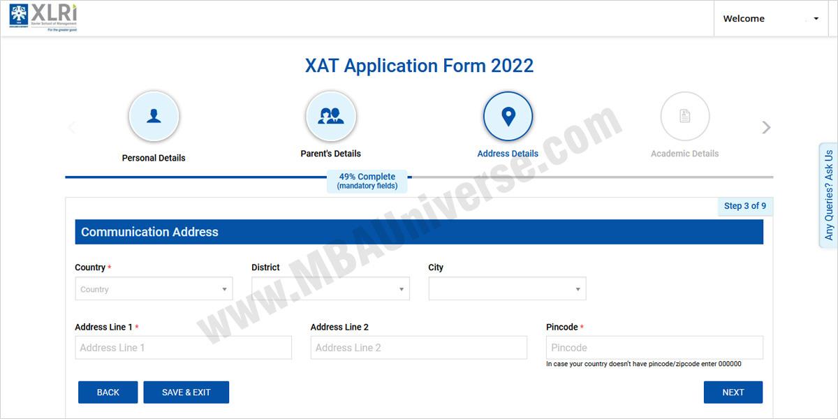 xat registration programmes